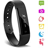 【BIG SALE】 Fitness Tracker,YG3 Activity Tracker Water Resistant with Sleep Monitor, Bluetooth Smart Wristband Bracelet Sport Pedometer fitness Watch Step Tracker/Calorie Counter for Android and ios