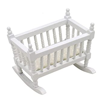Amazon.com: JETEHO 1 Piece Doll Cradle Toy Furniture for ...