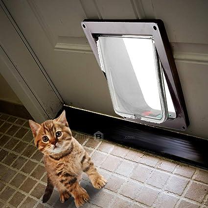 Amazon.com: Puerta de seguridad con cerradura para perro y ...
