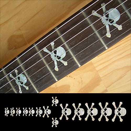 Fretboard Markers Inlay Sticker Decals for Guitar & Bass - Skull - WP