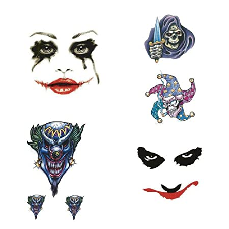 AZXPLM Etiqueta Engomada Del Tatuaje Bloody Joker Etiqueta ...