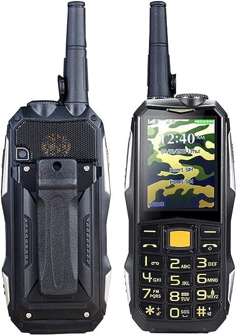 Zhouchenchen Walkie Talkie 2.4inch 19800mah Resistente Dual SIM gsm walkie Talkie Espera Smartphone Radio de FM Cámping: Amazon.es: Electrónica