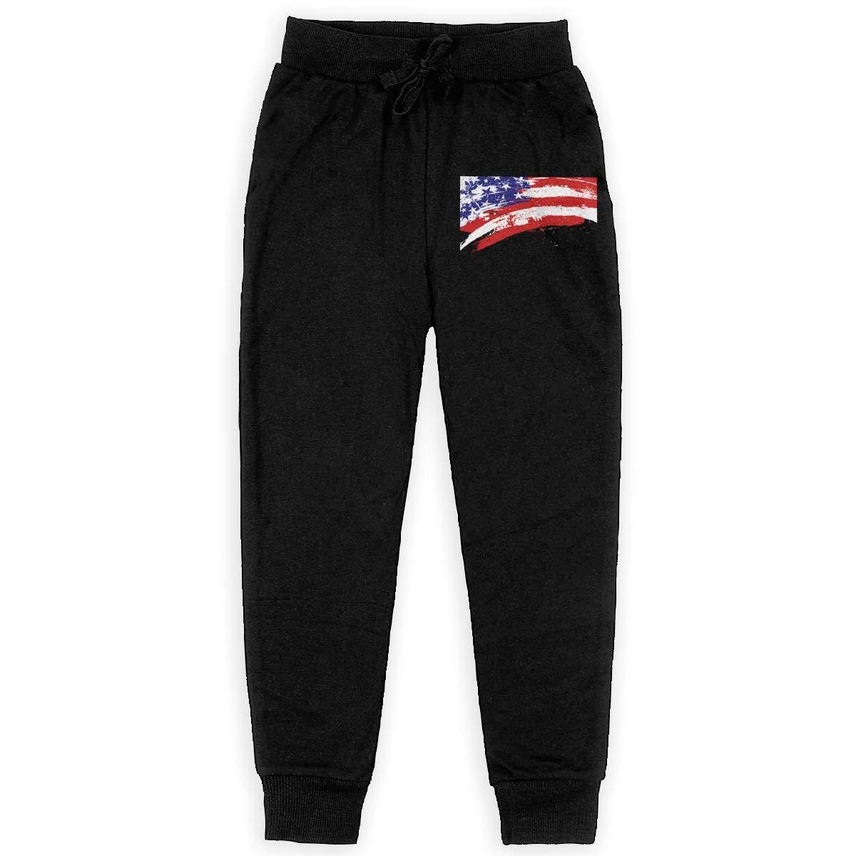 IufnNRJndfu USA Flag Boys Athletic Smart Fleece Pant Youth Soft and Cozy Sweatpants