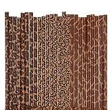 Biodegradable Paper Straws Mix, Animal Print, Giraffe Cheetah Leopard (75)