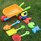WALLER PAA 8PCS Baby Kids Beach Bucket One Set Children Play Funny Summer Beach Tool Toys
