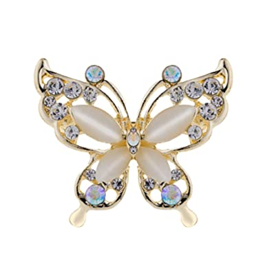 143552530 Image Unavailable. Image not available for. Color: YAZILIND Rhinestone  Butterfly Brooch Alloy Pin Jewelry Gift for Women Girls