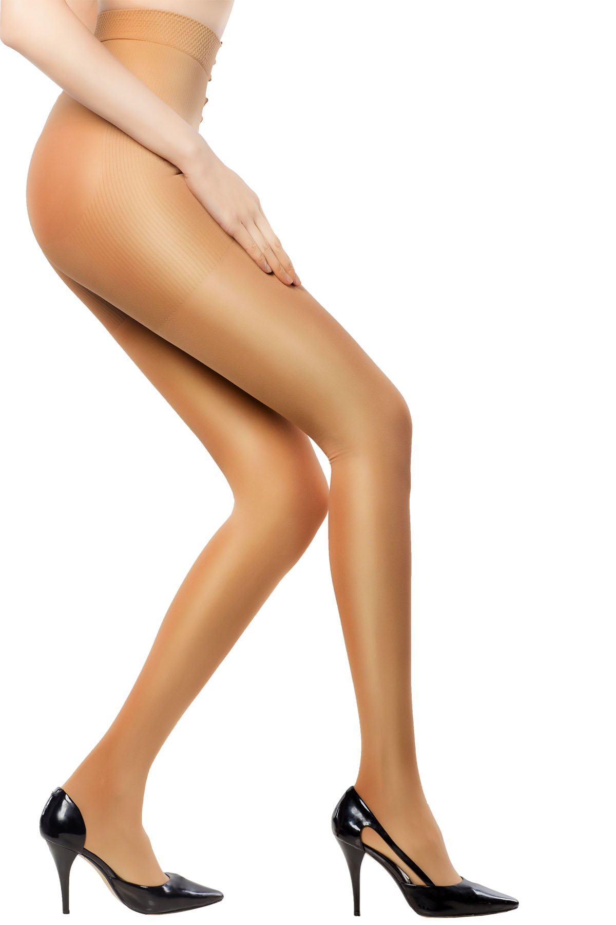 MD 15-20mmHg Women's Comfy Compression Pantyhose For Winter Medical Quality Ladies Support Stocking NudeS