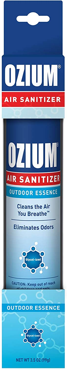 Ozium 3.5 Oz. 1 Pack Air Sanitizer & Odor Eliminator for Homes, Cars, Offices and More, Outdoor Essence