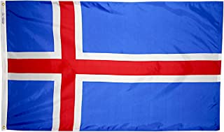 product image for Annin Flagmakers Model 193571 Iceland Flag 3x5 ft. Nylon SolarGuard Nyl-Glo 100% Made in USA to Official United Nations Design Specifications.