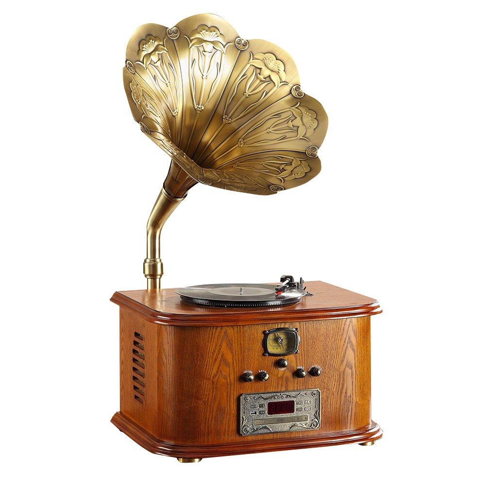 Sitang Cuerno grande retro gramófono cosecha oficios caseros creativos antiguos MLG56111