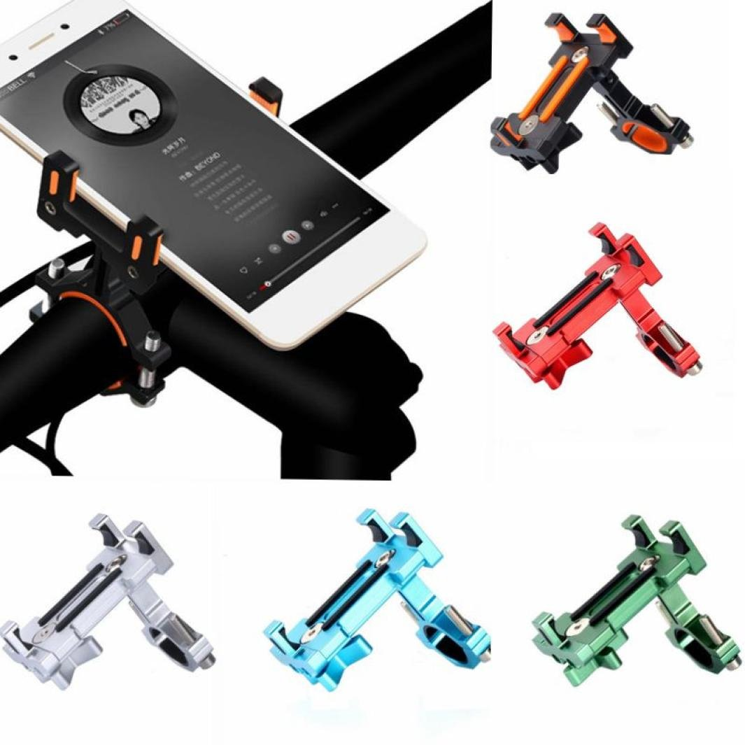 Happy Event Phone Mount Bike Handlebar Aluminum Alloy Adjustable Fits GPS Black Black Über 7.5cmx4.5cm