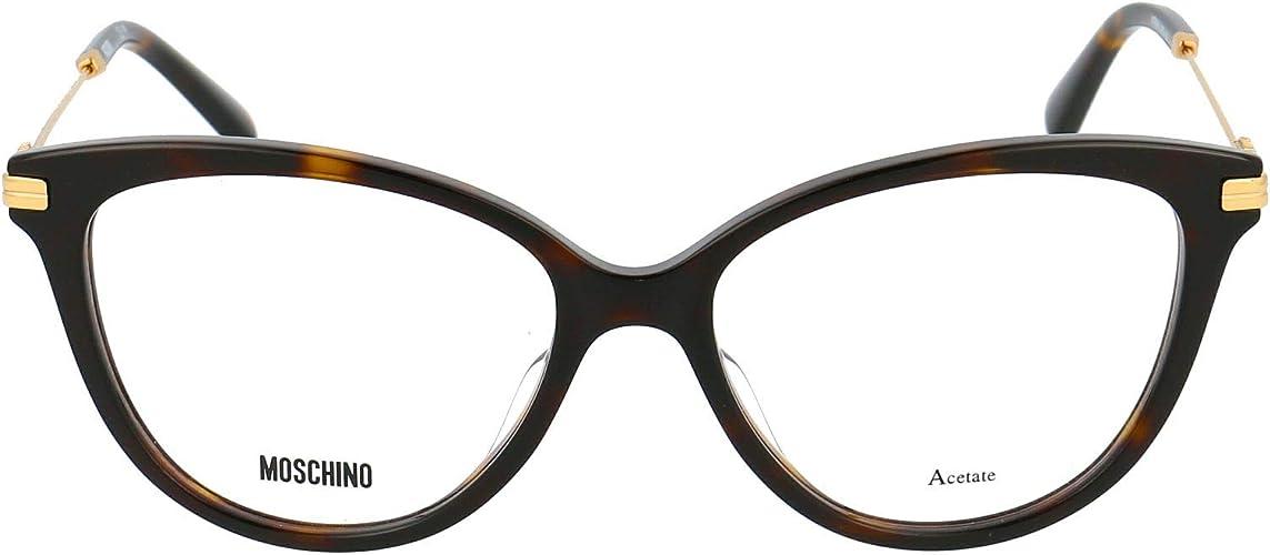 Stagione Permanente Moschino Luxury Fashion Donna MOS561086 Marrone Acetato Occhiali