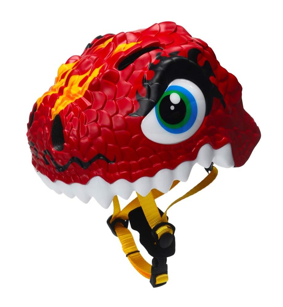 Zjoygoo 3D Design Dinosaur Dragon Red Kids Helmet 3-8 Years Toddler Helmet Sports Protective Gear Hoverboard Bicycle Skateboard Adjustable Helmets for Kids Child Boys Girls Safety Helmet Age 3-5 6-8
