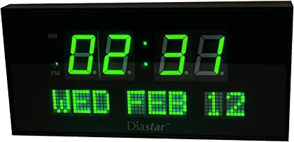 Over Sized Digital LED Easy To Read Electric Wall Clock Large Day Date Time