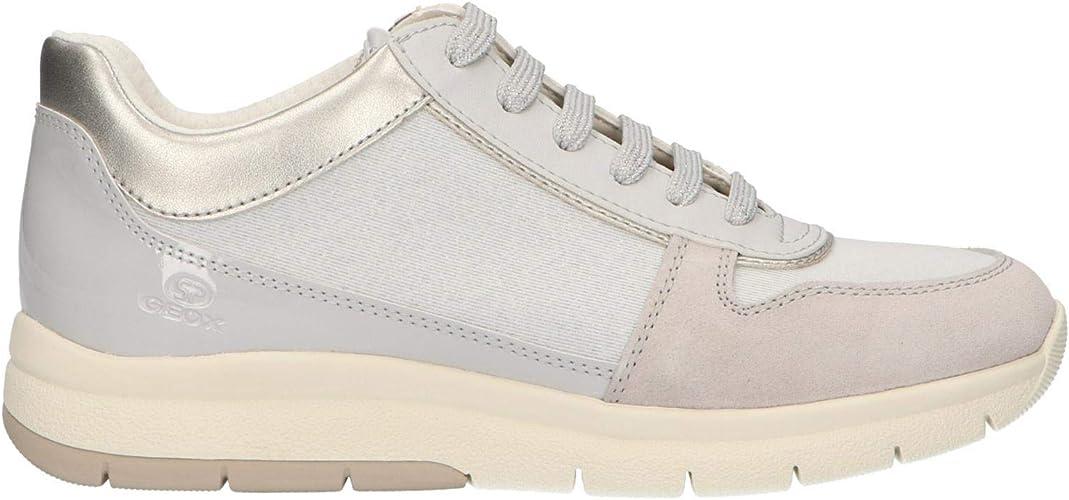 Geox Scarpe da Donna Sneaker D CALLYN D in Tessuto Beige D849GD 0EWHI C0423