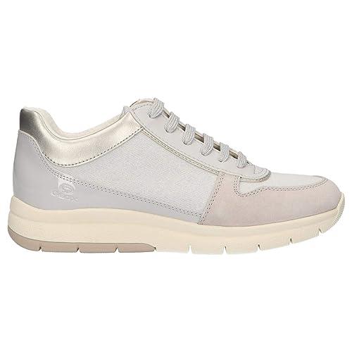 0591540fea Geox Scarpe da Donna Sneaker D CALLYN D in Tessuto Beige D849GD-0EWHI-C0423