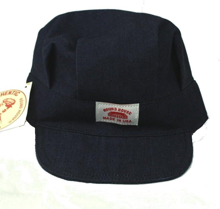 5cadd6c69f0 Amazon.com  Round House Adult Train Engineer Denim Cap Made in America   Clothing