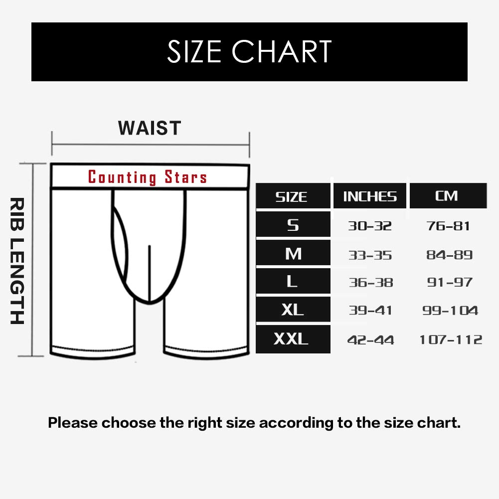 Counting Stars Mens Boxers Shorts Multipack Spandex Breathable Underwear Mens Pants Underwear S M L XL XXL