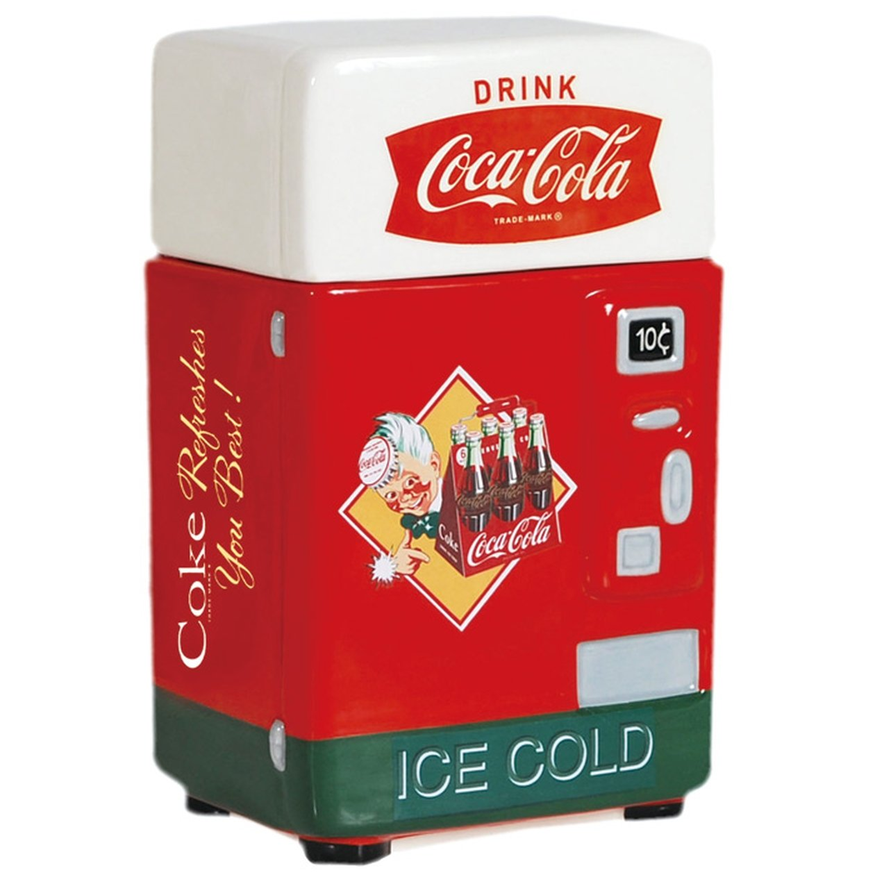 Coca-Cola Vending Machine Canister, 8-Inch