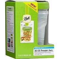 2-Count Ball Plastic Pint Freezer Jars w/Snap-On Lids 16oz