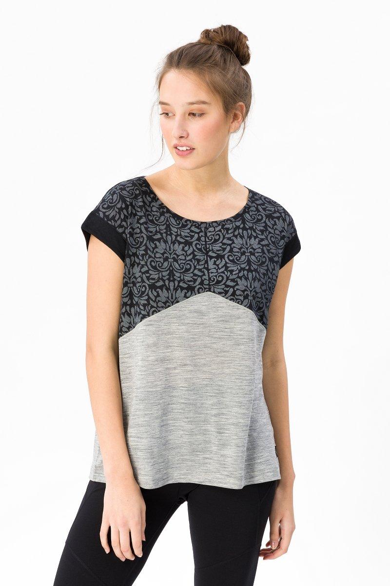 Super.natural Damen W Motion Slash Printed Merino T-Shirt