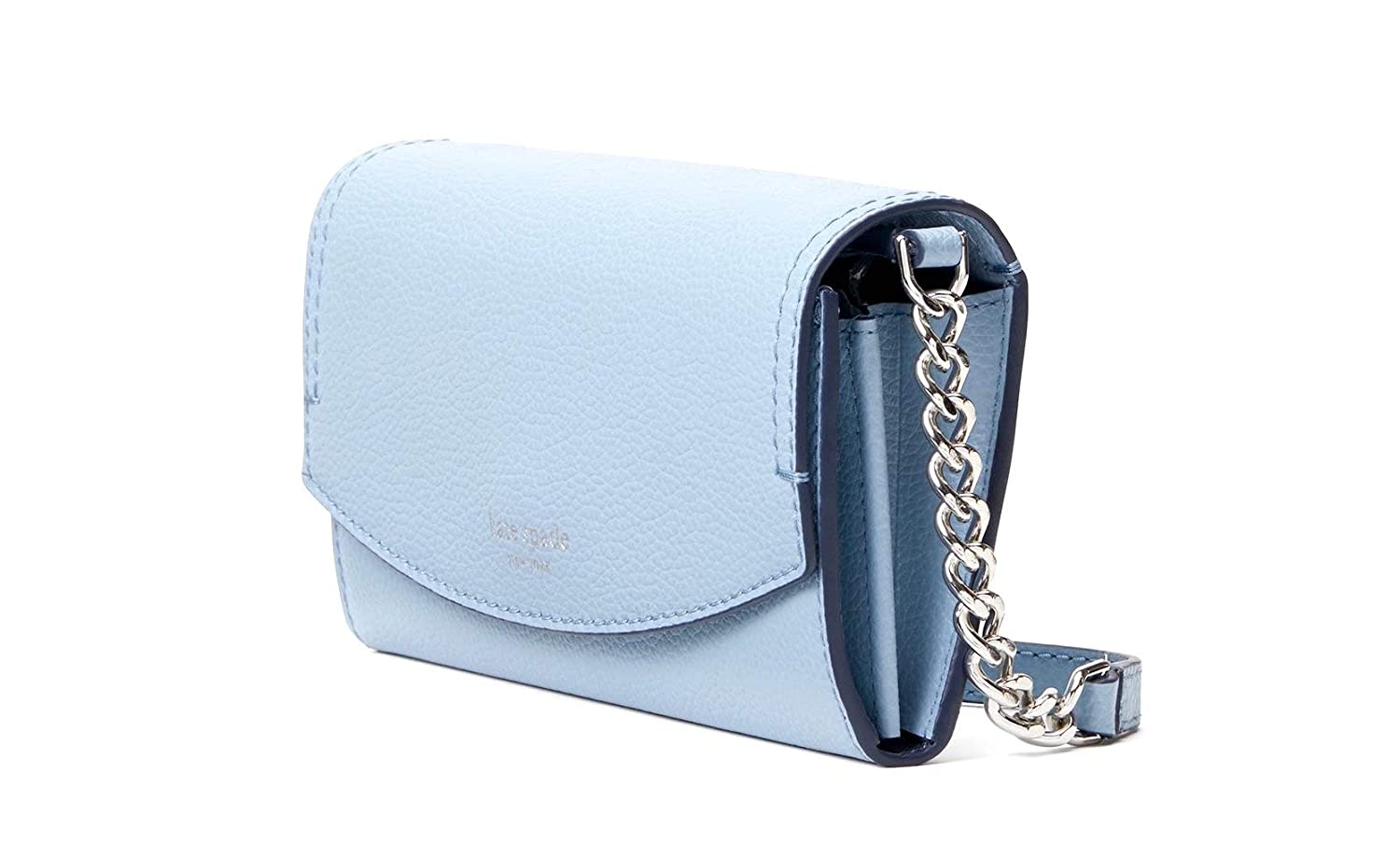 Kate Spade NY Eva Leather Wallet on a Chain Blue Dawn
