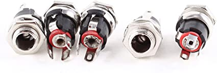 2 pcs DC Power Plug 2.5x5.5mm locking