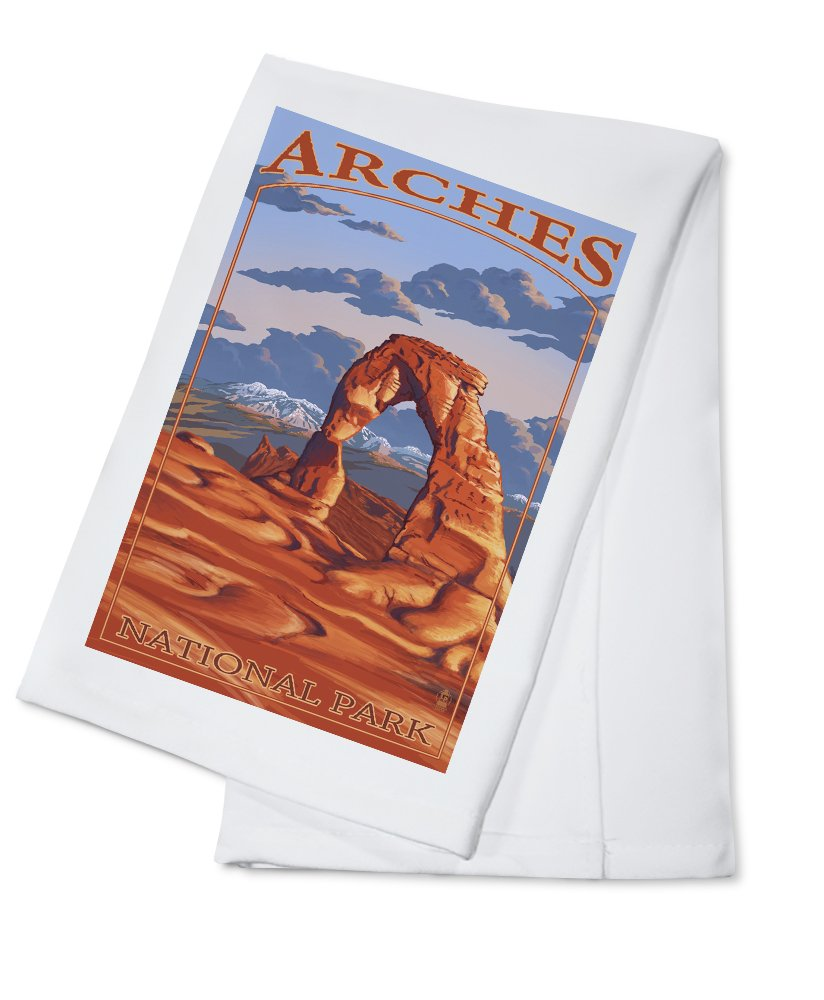 アーチーズ国立公園、ユタ州 – Delicate Arch Cotton Towel LANT-23892-TL B0184BRFT0 Cotton TowelCotton Towel