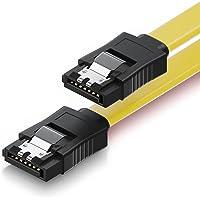 deleyCON 30cm SATA III Kabel S-ATA 3 Gegevenskabel - HDD SSD Verbindingskabel Metalen Clip 6 GBit/s - 2 Rechte L-Type…
