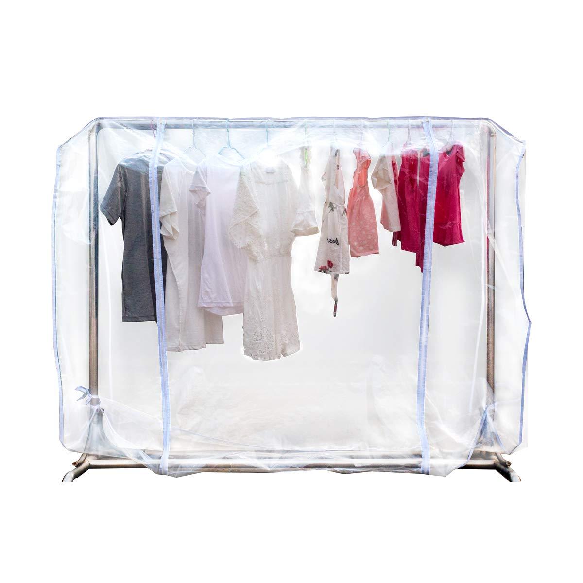 Amazon Com Zzone Garment Rack Cover Transparent Peva Clothing Rack