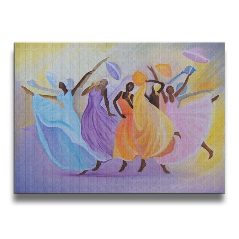 SG ULTIMATE Dance Africana Frameless Modern Artwork Abstract Decorative Oil Paintings For Kitchen Living Room Bedroom Decoration Home Decor