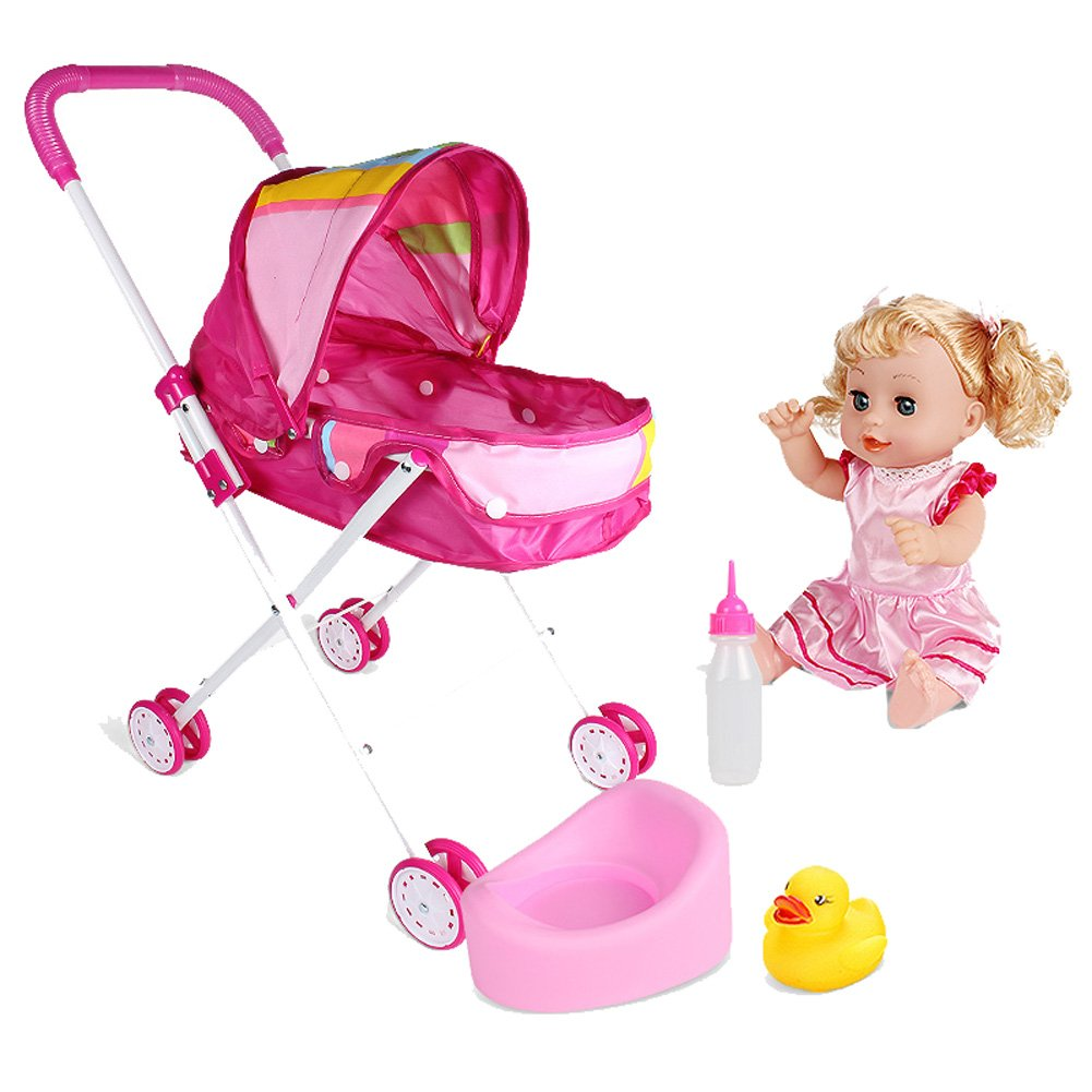 Children'S Toys, Stroller Set, Baby Trolley Gift(H2) Children' S Toys Dragon Sonic