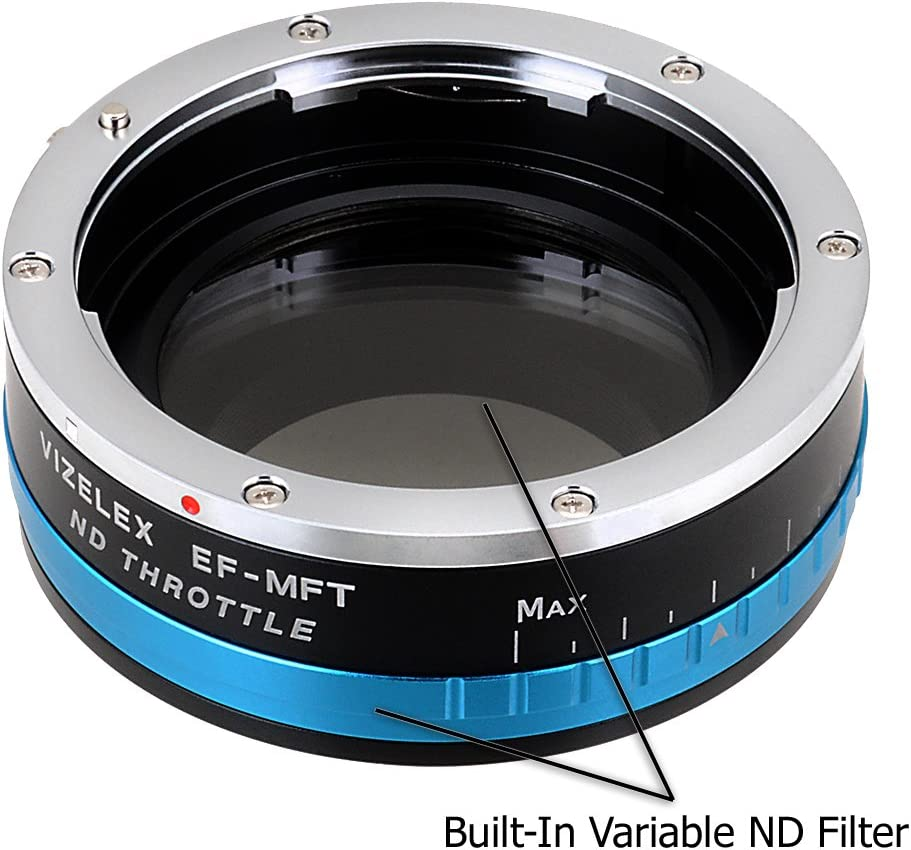 Rollei 35 ND2-ND1000 Vizelex ND Throttle Lens Mount Adapter from Fotodiox Pro with Built-in Variable ND Filter SL35 Lens to Micro-4//3 Mount Cameras