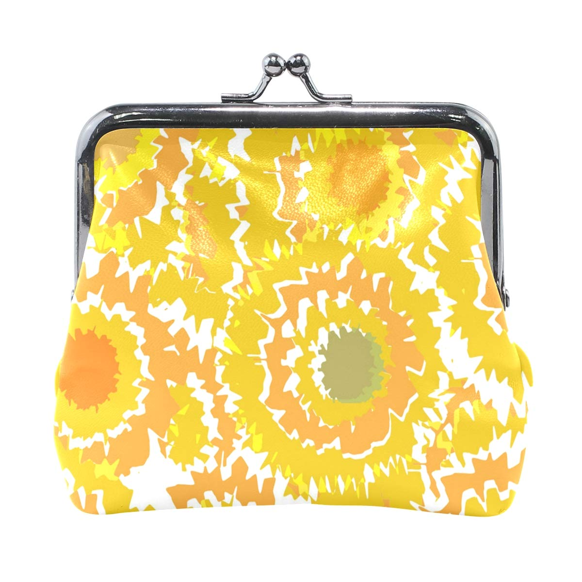 Exquisite Buckle Coin Purses Summer Colorful Sunflower Mini Wallet Key Card Holder Purse for Women