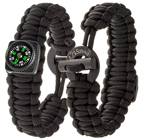 a2s-dare2-survival-bracelet-pack-of-2-stylish-survival-gear-kit-with-compass-fire-starter-emergency-