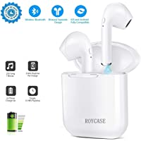 roycase Bluetooth Headphones 4.2 Wireless Earbuds Mini In-Ear Earphones with stereophone/Charging Case/anti-sweat noise canceling microphone for All smartphones
