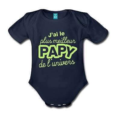 8b290c3bfe23f Spreadshirt J Ai Le Plus Papy Body bébé Bio Manches Courtes  Amazon.fr   Vêtements et accessoires