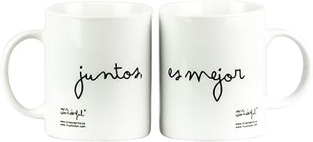 Mr. Wonderful Taza, Blanco: Amazon.es: Hogar
