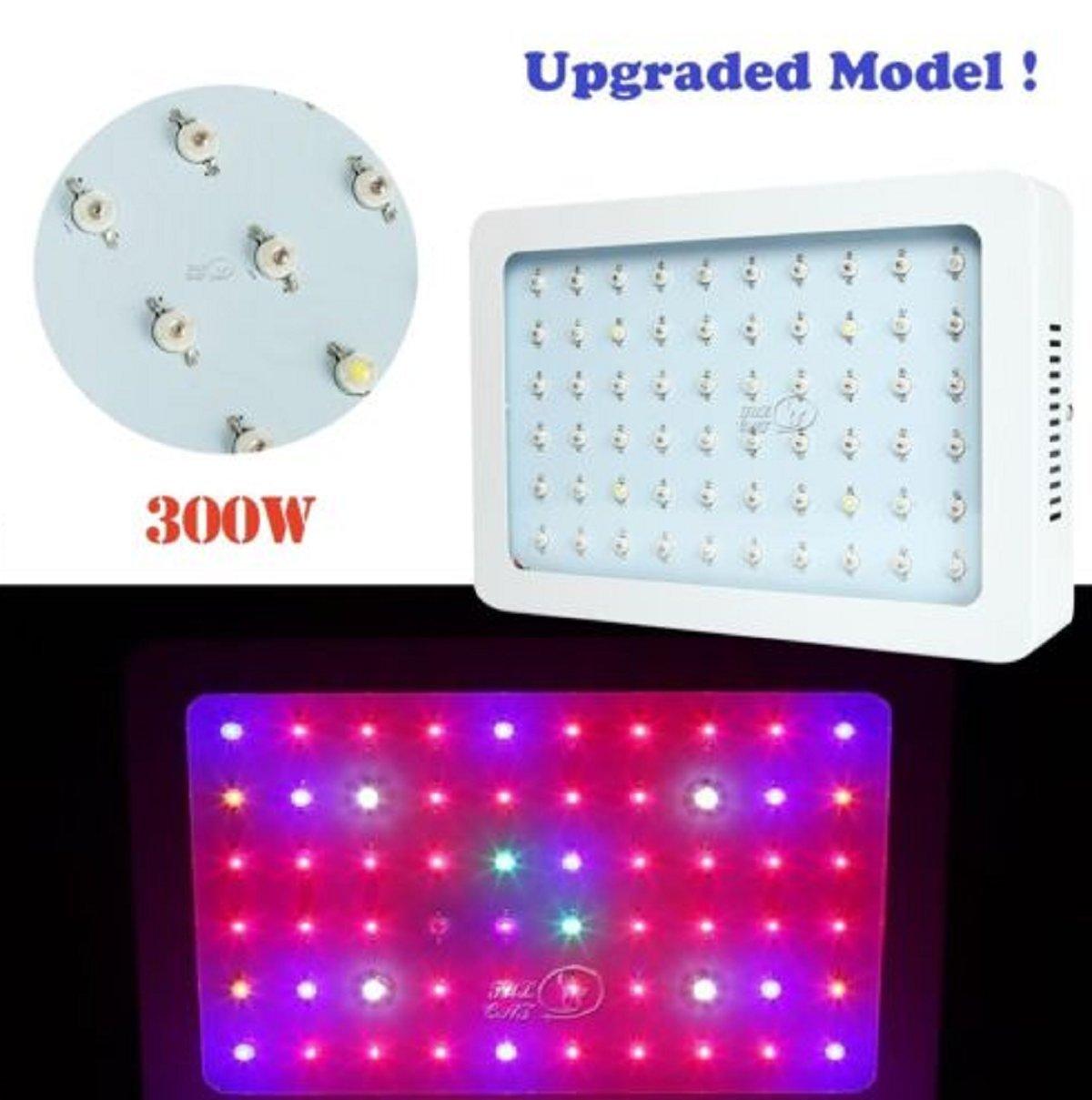 USA Premium Store 300W LED Grow Light Full Spectrum Panel Lamp for Veg Flower Garden Indoor Plant by USA Premium Store (Image #1)