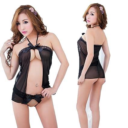 946e9fb52eff GR HQ8807 Conjunto de lencería de encaje sexy para mujer Ropa ...