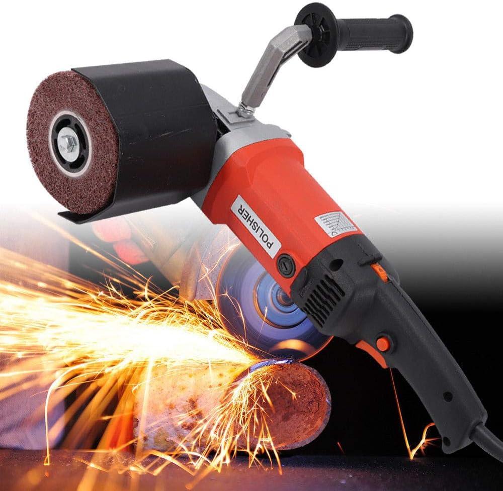 RANZIX 1400W Polishing Machine Grinder Satiniermaschine Rohrbandschleifer 600-3000 U//min Polierer