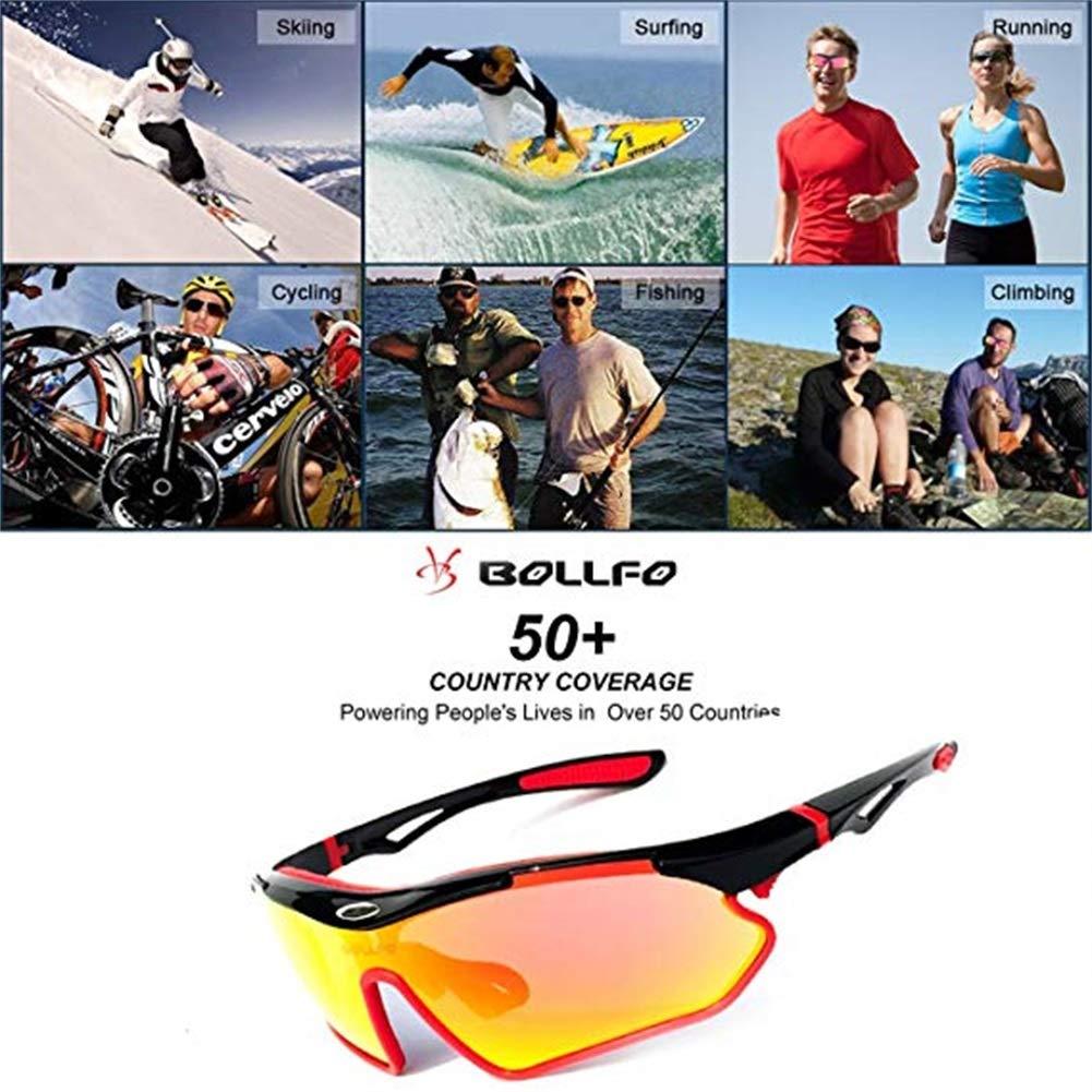 BOLLFO Polarized Sports Sunglasses Cycling Fishing Golf Skiing Glass Eyeglass