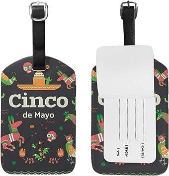 Amazon.com | Cinco De Mayo Luggage Tags Set of 1 Travel ID ...