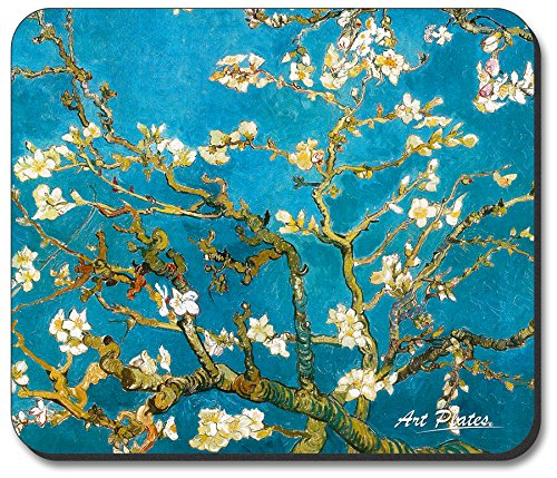 (Art Plates Brand Mouse Pad with Vincent Van Gogh - Almond Blossoms design)