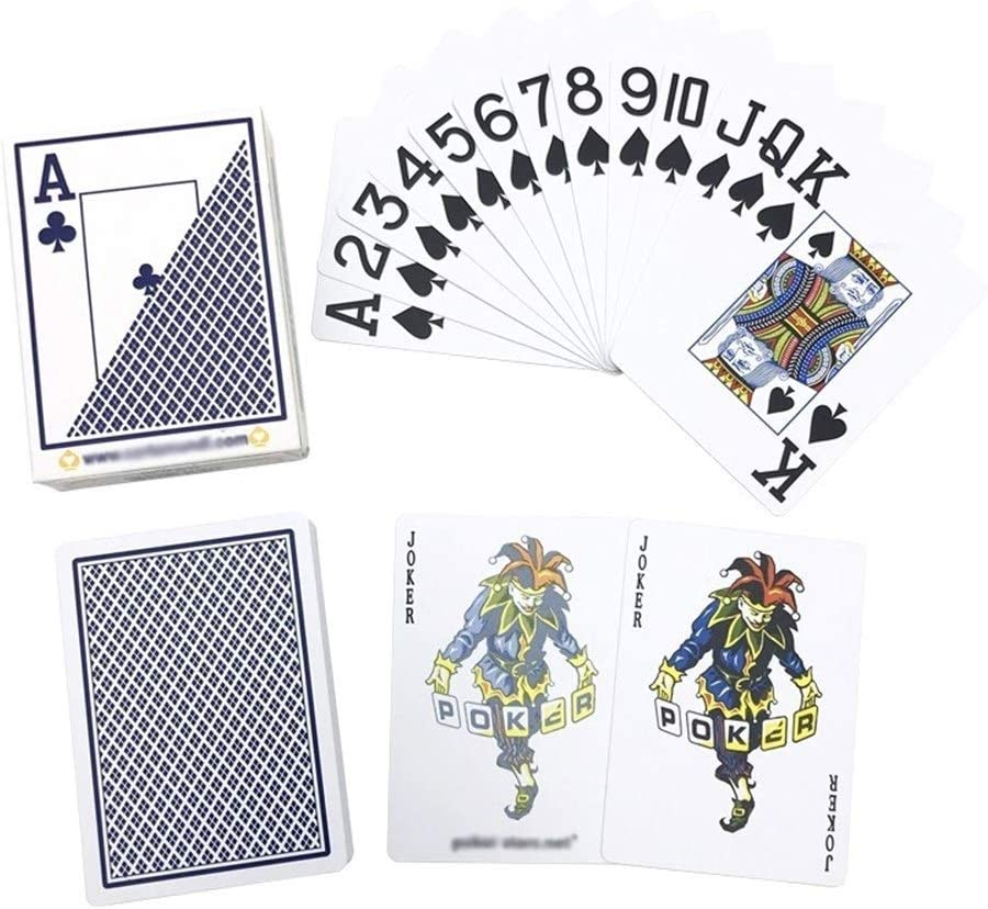 Safety Vests 1pcs Hold Em Poker Big Number Plastic Playing Cards Frosting Waterproof Poker Club Board Games 63 88 Mm Color 1 Blue Amazon Co Uk Kitchen Home
