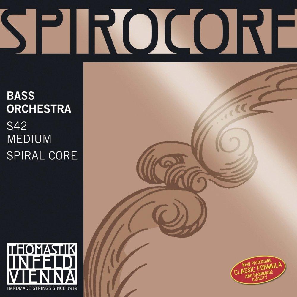 entorchado cromo cuerda Sol n/úcleo flexible en espiral afinaci/ón para orquesta Thomastik Cuerda para Contrabajo 3//4 Spirocore ligero