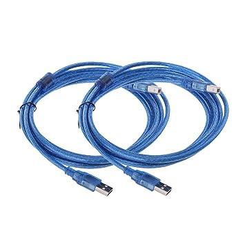 Homyl 2 Pieza Cable USB Tipo Impresora A A B Accesorios de ...
