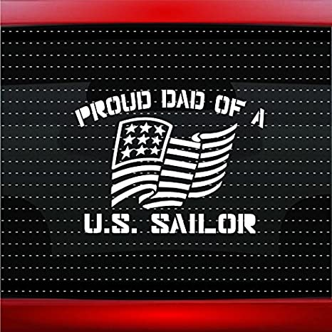 Amazon.com: Proud Azul Marino Papá # 1 Militar Sailor ...