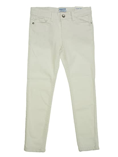 a94a5715 Mayoral 28-03544-022 - Twill Pants Super Slim fit for Boys 7 Years White:  Amazon.co.uk: Clothing