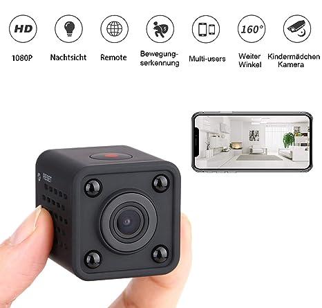 Mini Camera Cámaras Espía - CUSFLYX Cámara de vigilancia Wi-Fi, HD, detección